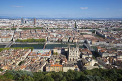Aerial view of Lyon Stock Photography