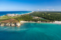 Aerial view of Macao beach. Bavaro , Dominican Republic Royalty Free Stock Photos