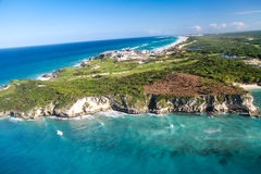 Aerial view of Macao beach Stock Photo