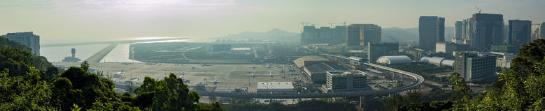 Aerial view of Macau International Airport Royalty Free Stock Photography