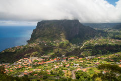Aerial view on Madeira landscape Stock Photo