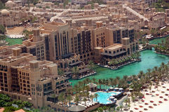 Aerial View of Madinat Jumeirah. Aerial view of a Dubai Hotel Stock Photography