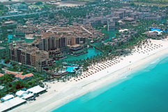 Aerial View of Madinat Jumeirah. Aerial view of a Dubai Hotel royalty free stock image
