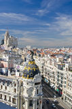 Aerial view of Madrid Stock Photography