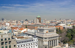 Aerial view of Madrid Stock Photo