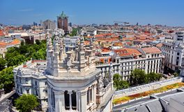 Madrid Spain. Aerial view of Madrid in Spain Stock Photos