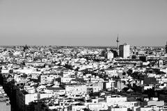 Aerial view of Madrid in Spain Royalty Free Stock Images
