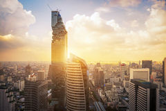Aerial view of Mahanakorn high rise modern building. At business zone in Bangkok,Thailand Royalty Free Stock Photo