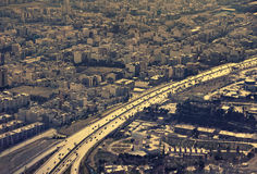Aerial View of a Main Highway in Tehran Royalty Free Stock Image