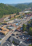 Aerial view of the main road through Gatlinburg, Tennessee Stock Photography