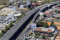 Aerial view of main road in mexico city Stock Photo
