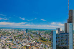 Aerial View from Maintower, Frankfurt, Germany Royalty Free Stock Image