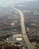 Aerial view of major highway Stock Photos