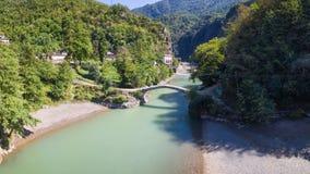 Aerial view of Makhuntseti bridge Stock Images