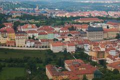 Aerial view of Mala Strana district, Prague. Europe Royalty Free Stock Images
