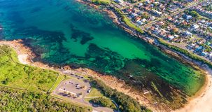 Aerial view of Malabar Beach, Sydney, Australia.  stock photography