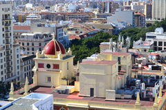 Aerial view of Malaga Stock Photography