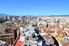 Aerial view of Malaga Stock Image