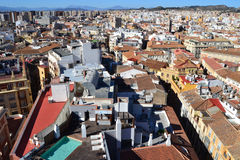Aerial view of Malaga Royalty Free Stock Photo