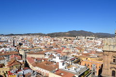 Aerial view of Malaga Royalty Free Stock Image