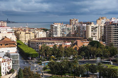 Aerial view of Malaga Royalty Free Stock Images