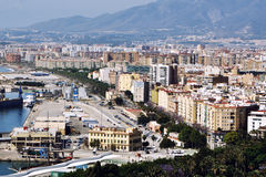 Aerial view of Malaga, Spain Royalty Free Stock Images