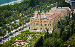 Aerial view of malaga town hall Royalty Free Stock Image