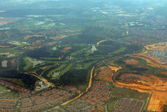 Aerial view of Malaysia Royalty Free Stock Images