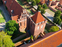 Aerial view of Malbork Castle Stock Photography