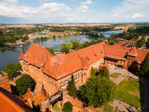 Aerial view of Malbork Castle Royalty Free Stock Image
