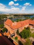 Aerial view of Malbork Castle Royalty Free Stock Photo