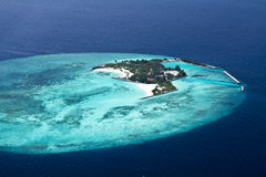 Aerial view of  Maldive islands Royalty Free Stock Photo