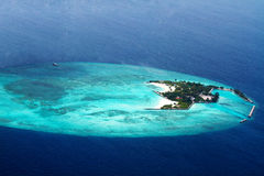 Aerial view of  Maldive islands Stock Photography