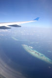 Aerial view of the Maldives Stock Image