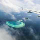 Aerial view of the Maldives Royalty Free Stock Photos