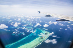Aerial view of the Maldives Stock Photos