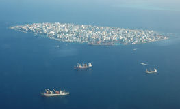 Aerial view of Male. Aerial view of Capital City of Maldives Royalty Free Stock Photography