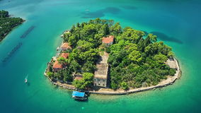 Aerial view of Mali Ston Bay Royalty Free Stock Image