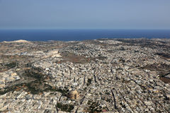 Aerial view of Malta island Stock Photography