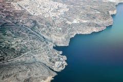 Aerial view of malta island in ocean. Aerial view of malta island in blue ocean Stock Images
