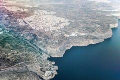 Aerial view of malta island in ocean. Aerial view of malta island in blue ocean Stock Photography