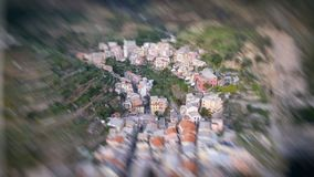 Aerial view of Manarola, Five Lands, Italy.  royalty free stock photo