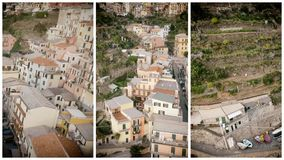 Aerial view of Manarola, Five Lands, Italy.  royalty free stock images