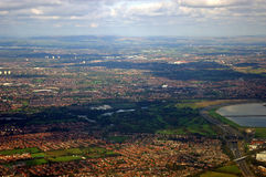 Aerial view of Manchester Royalty Free Stock Photos