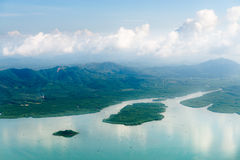 Aerial view of mangrove forests Stock Photography