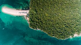 Aerial view of the bongoyo island, dar es salaam. Aerial view of the mangrove swamp royalty free stock images
