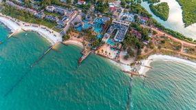 Aerial view of the mangrove swamp, dar es salaam. Aerial view of the mangrove swamp stock image