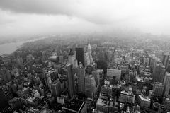 Aerial view of Manhattan Stock Images