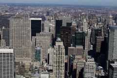 Aerial view of Manhattan Royalty Free Stock Image