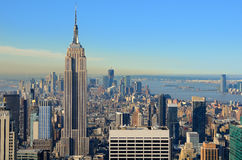 Aerial view of Manhattan Royalty Free Stock Photography